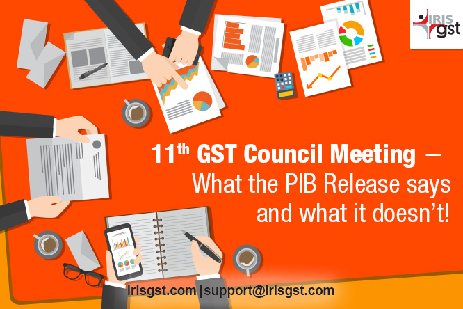 11th GST Council Meeting
