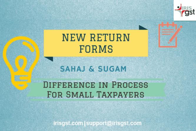 New Simplified Return Forms - Sahaj & Sugam for Small Taxpayers