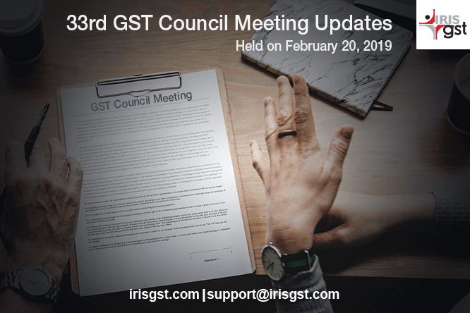 33 GST Council, Adjourned