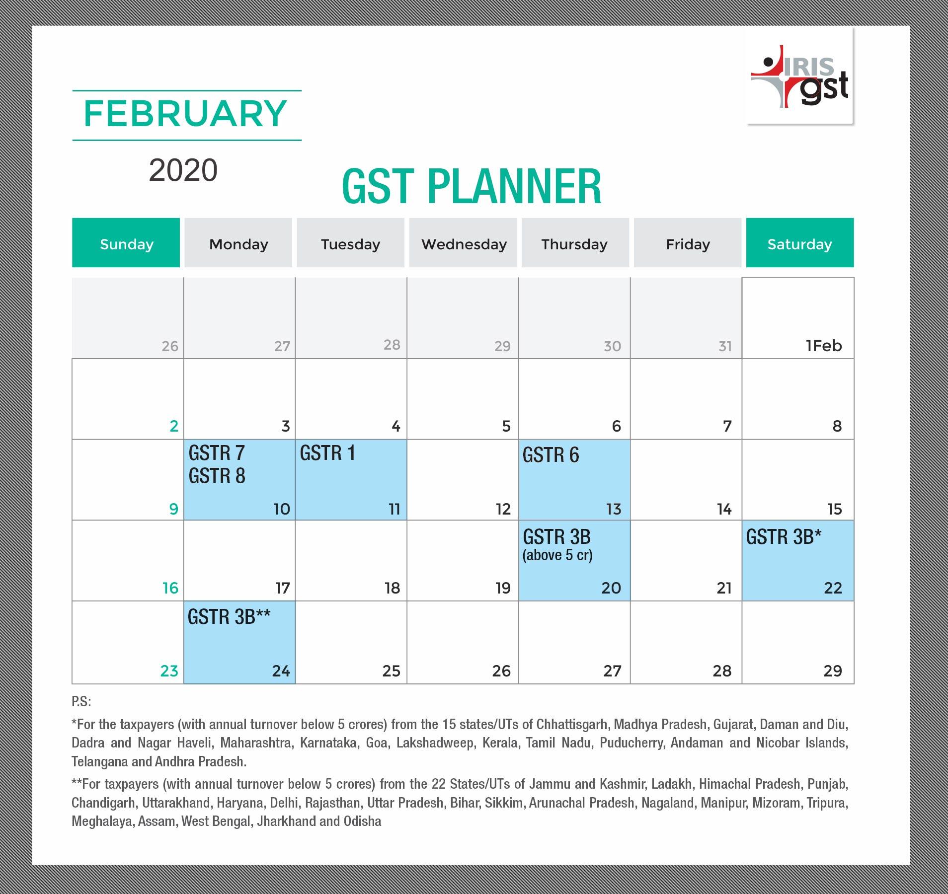 GST-Compliance-Calendar-February-2020