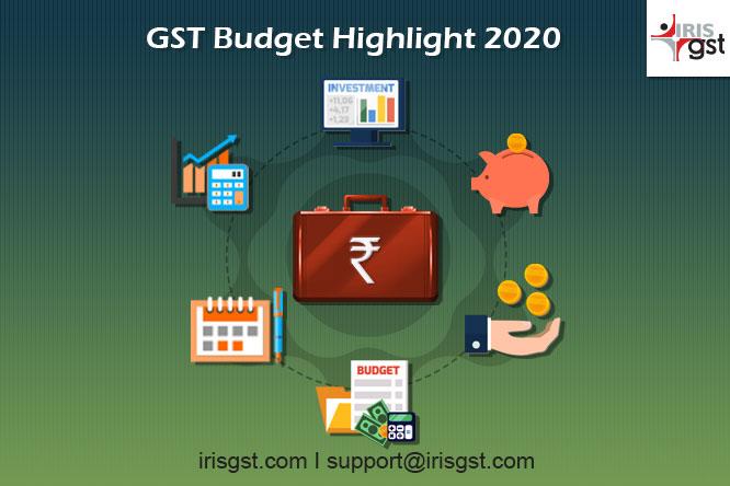 GST Budget 2020 Highlights